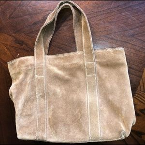 Banana Republic Suede Leather Tan Tote Bag